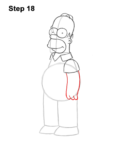 How to Draw Homer Simpson Full Body 18