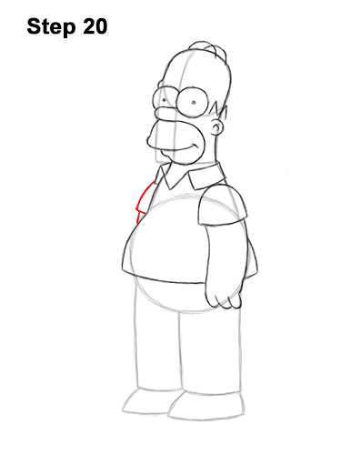 How to Draw Homer Simpson Full Body 20