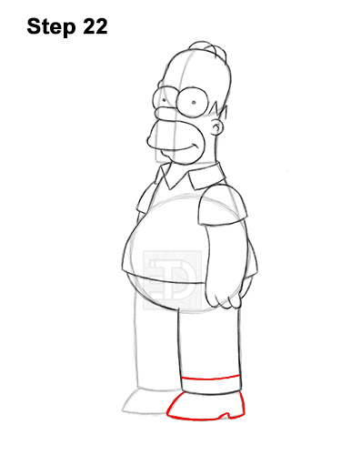 How to Draw Homer Simpson Full Body 22
