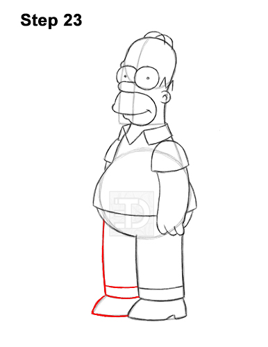 How to Draw Homer Simpson Full Body 23