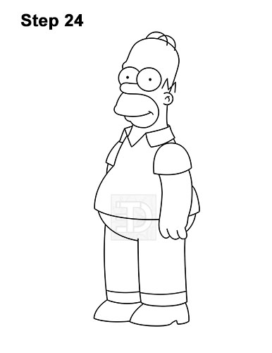How to Draw Homer Simpson Full Body 24