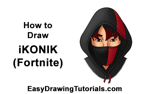 How to Draw Fortnite Ikonik Skin