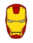 How to Draw Iron Man Head Helmet Marvel