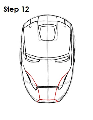 How to Draw Iron Man Step 12