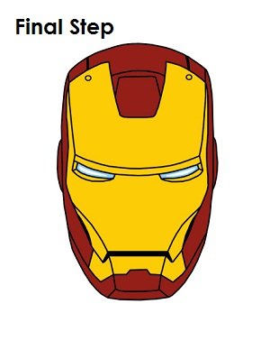 How to Draw Iron Man Final Step