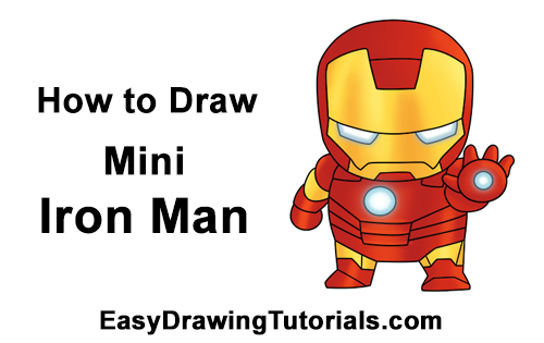 How to Draw Mini Chibi Little Iron Man