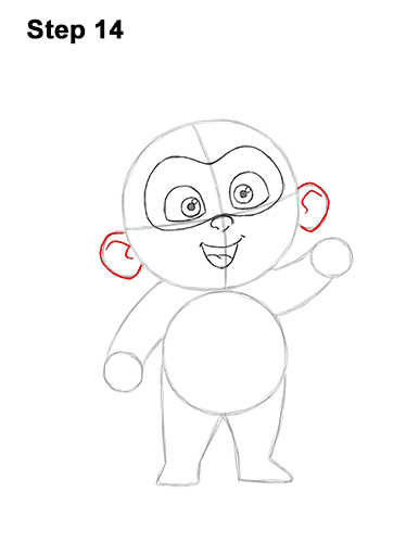 How to Draw Jack Jack Cute Baby Incredibles 14