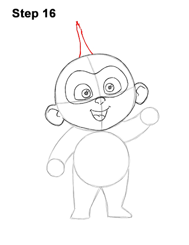 How to Draw Jack Jack Cute Baby Incredibles 16