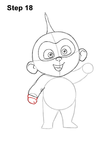 How to Draw Jack Jack Cute Baby Incredibles 18