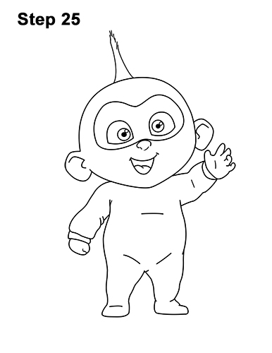 How to Draw Jack Jack Cute Baby Incredibles 25