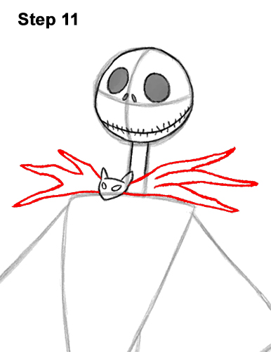 How to Draw Jack Skellington Nightmare Before Christmas Full Body 11