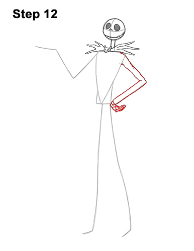 How to Draw Jack Skellington Nightmare Before Christmas Full Body 12