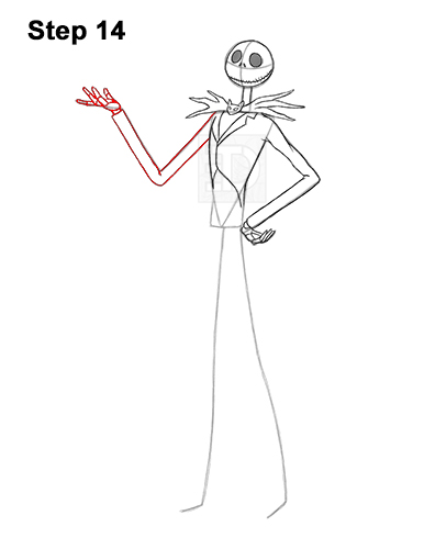 How to Draw Jack Skellington Nightmare Before Christmas Full Body 14