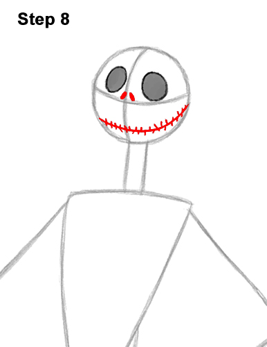 How to Draw Jack Skellington Nightmare Before Christmas Full Body 8