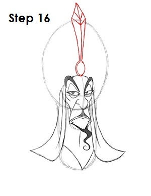 How to Draw Jafar Step 16