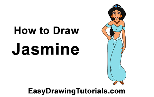 How to Draw Jasmine Full Body Aladdin