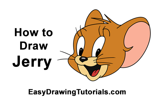 How to Draw Jerry Mouse Head Tom and Jerry