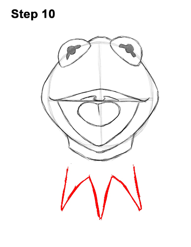 How to Draw Kermit the Frog Muppet 10