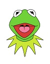 How to Draw Kermit The Frog Cartoon Sesame Street