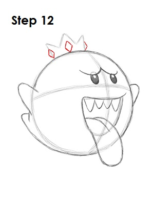 Draw King Boo 12