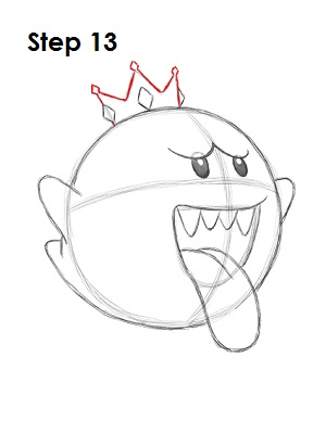 Draw King Boo 13