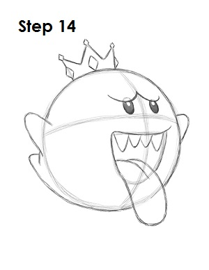 Draw King Boo 14