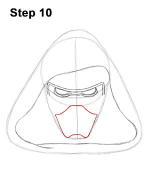 Draw Kylo Ren Star Wars 10