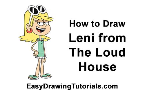 How to Draw Leni The Loud House Sister