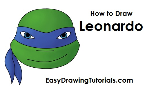 How to Draw Leonardo TMNT