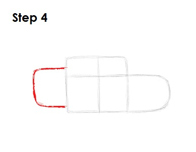 Draw Lightning McQueen Step 4