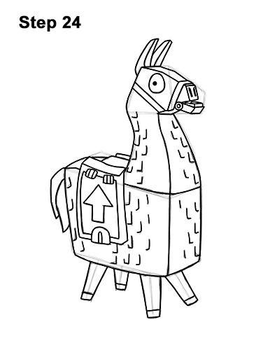 How to Draw Fortnite Loot Llama pinata 24