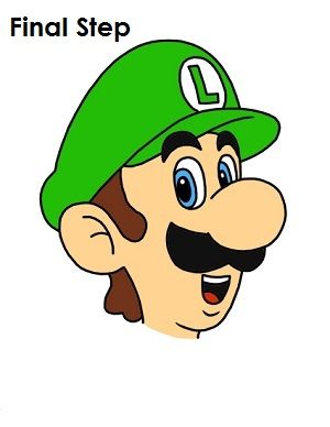 How to Draw Luigi Step Last