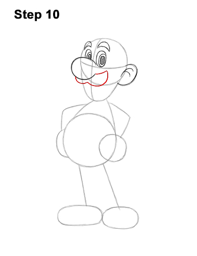 How to Draw Luigi Super Mario Nintendo Full Body 10