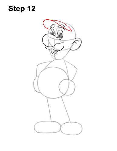 How to Draw Luigi Super Mario Nintendo Full Body 12