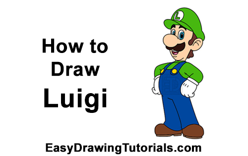 How to Draw Luigi Super Mario Nintendo Full Body