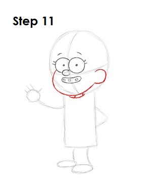 How to Draw Mabel Pines Step 11