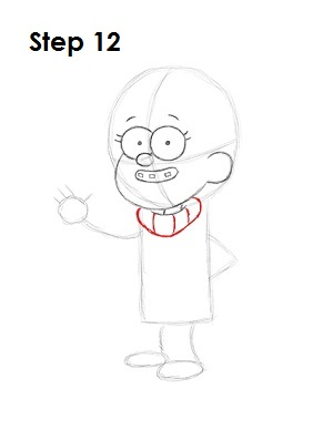 How to Draw Mabel Pines Step 12