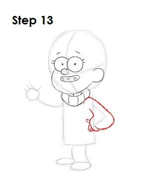 How to Draw Mabel Pines Step 13
