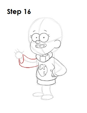 How to Draw Mabel Pines Step 16