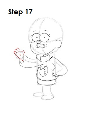 How to Draw Mabel Pines Step 17