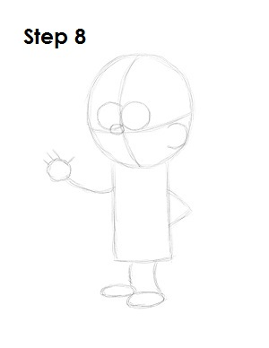 How to Draw Mabel Pines Step 8