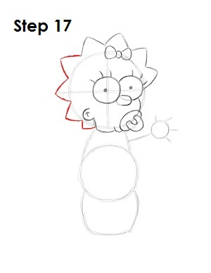 How to Draw Maggie Simpson Step 17
