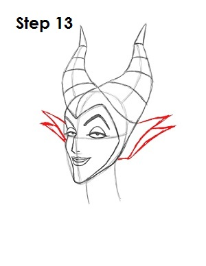 How to Draw Maleficent Step 13