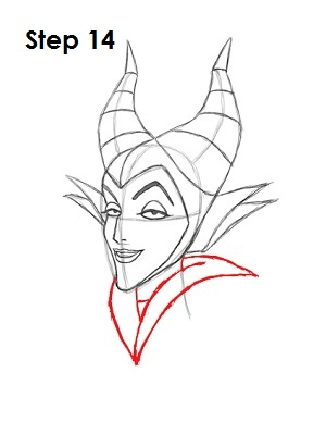 How to Draw Maleficent Step 14