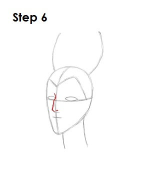 How to Draw Maleficent Step 6