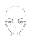 How to Draw Manga Adult Woman Female Basic Head
