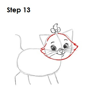 How to Draw Marie Step 13