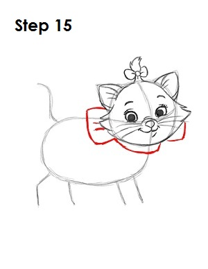How to Draw Marie Step 15