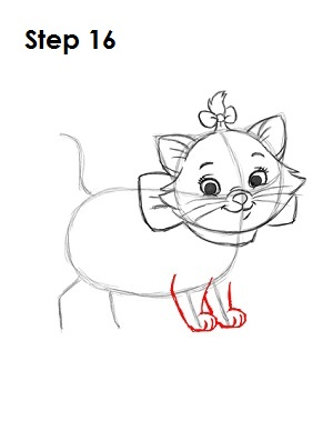 How to Draw Marie Step 16