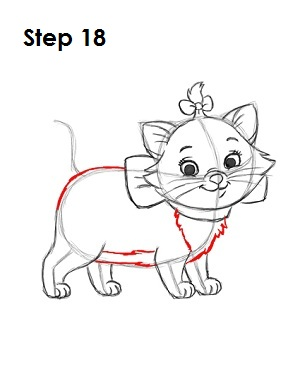How to Draw Marie Step 18